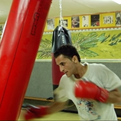 Jerusalem Boxing Club - punching the bag